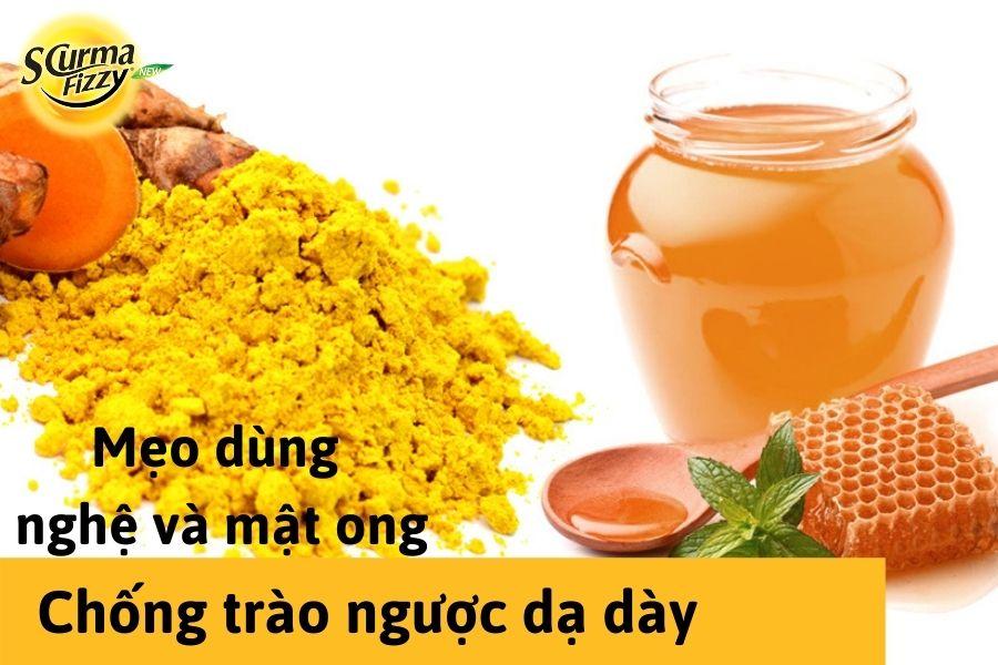 Mẹo chống tròa ngược dạ ày từ nghệ và mật ong