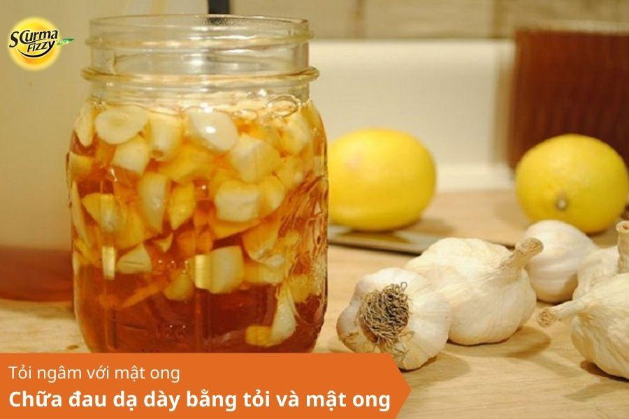 Chữa đau dạ dày bằng tỏi và mật ong