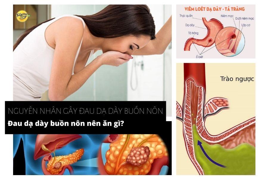 nguyên nhân đau dạ dày buồn nôn nên ăn gì