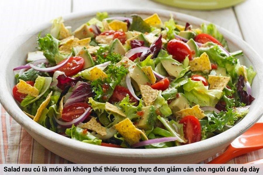 Salad giúp giảm cân cho người đau dạ dày