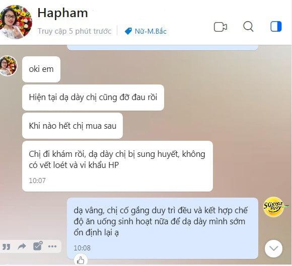 Chị Phạm Thị Hà (Thanh Trì, Hà Nội) chia sẻ về hiệu quả điều trị