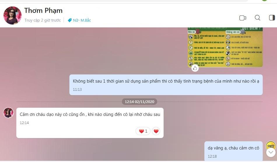 Phản hồi hiệu quả scurma fizzy từ cô Thơm Phạm (Hà Nội)