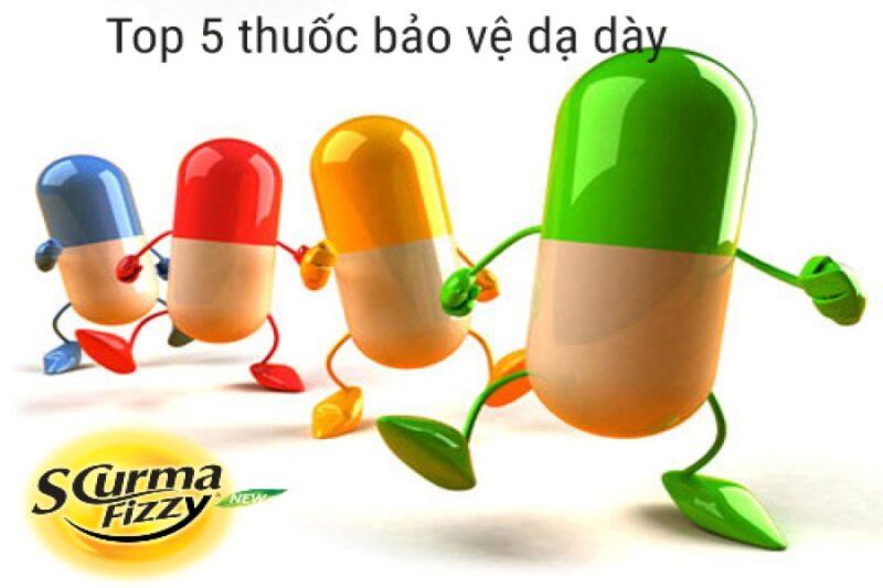 Top 5 thuốc bảo vệ dạ dày