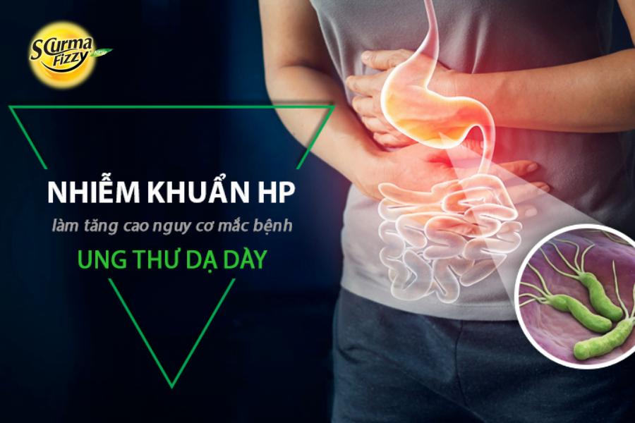 Bị vi khuẩn HP làm tăng cao nguy cơ mắc ung thư dạ dày