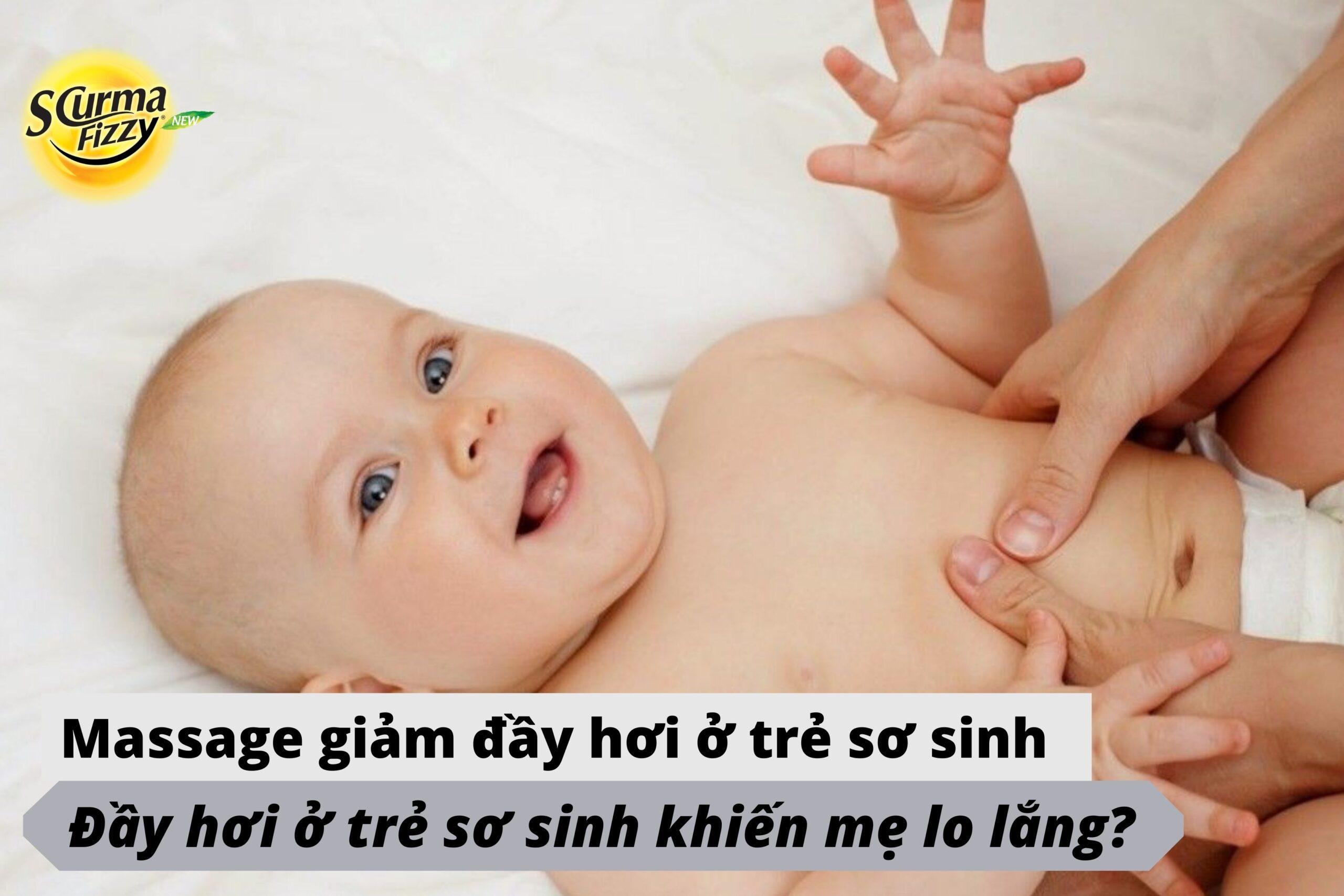 cách làm giảm đầy hơi ở trẻ sơ sinh