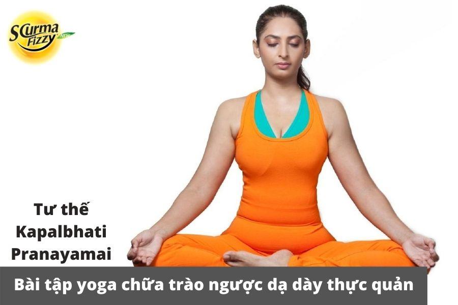 Chữa trào ngược dạ dày thực quản bằng bài tập Kapalbhati pranayama