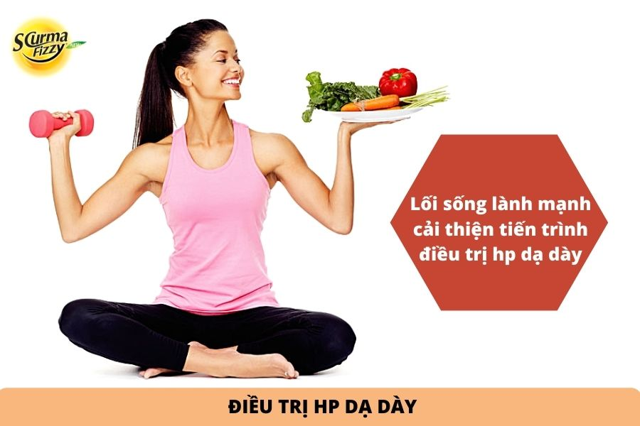 lối sống lành mạnh cải thiện tiến trình điều trị hp dạ dày