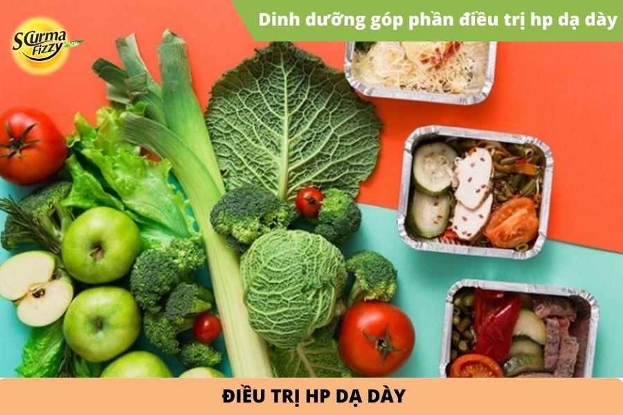 dinh dưỡng góp phần điều trị hp dạ dày