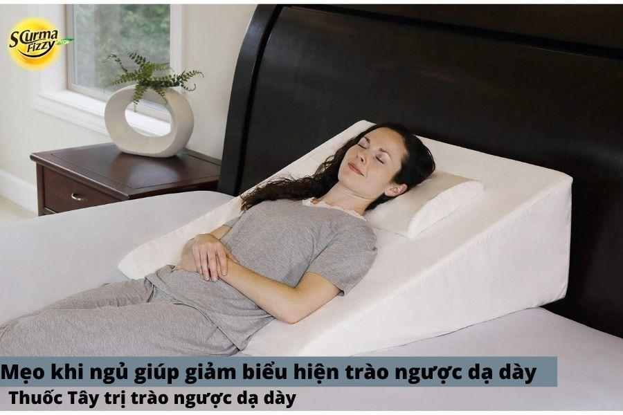 Mẹo khi ngủ giúp làm giảm trào ngược dạ dày