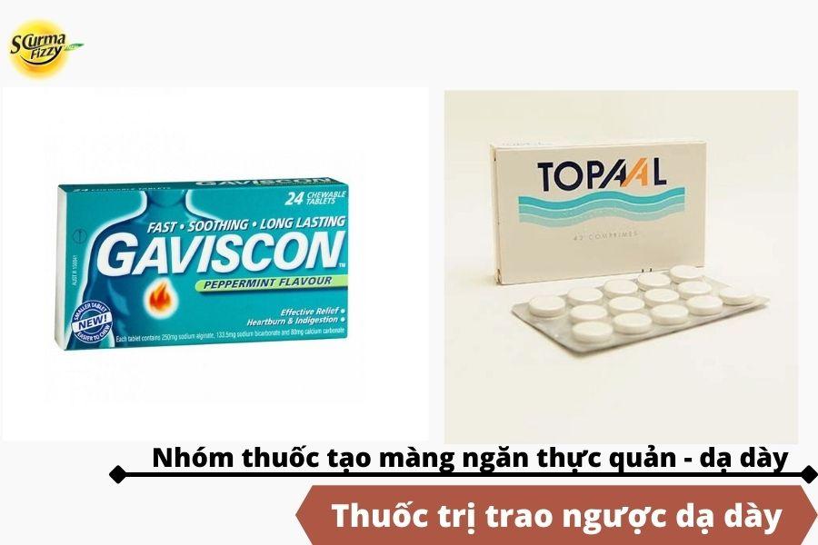 Sử dụng thuốc tạo màng ngăn thực quản - dạ dày trong điều trị trào ngược dạ dày.