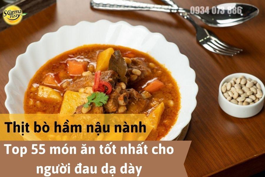 Món thịt bò hầm đậu nành