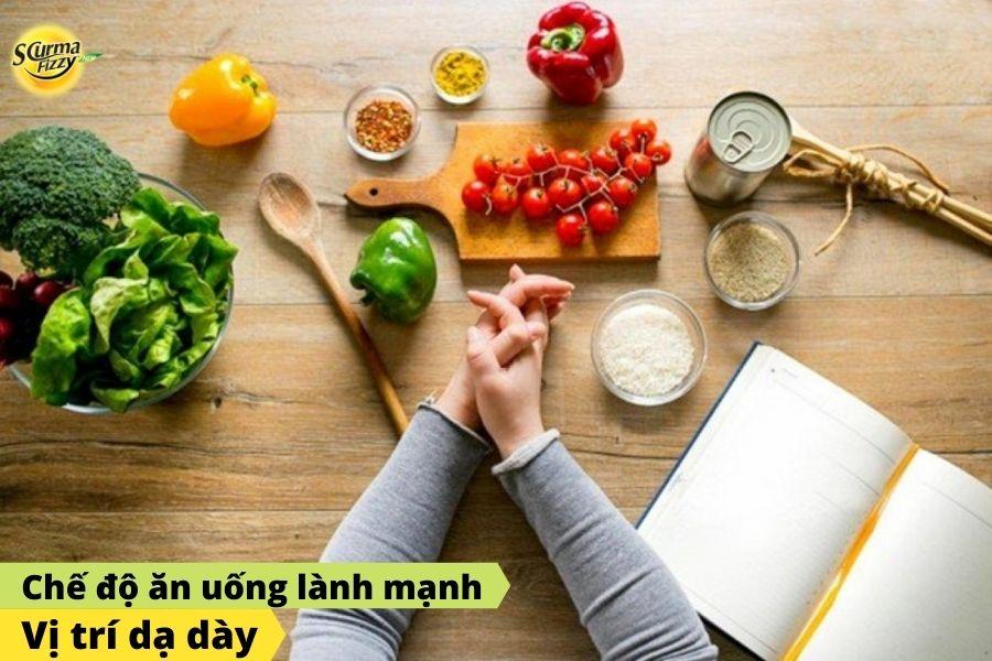 Chế độ ăn uống lành mạnh giúp giảm những cơn đau dạ dày