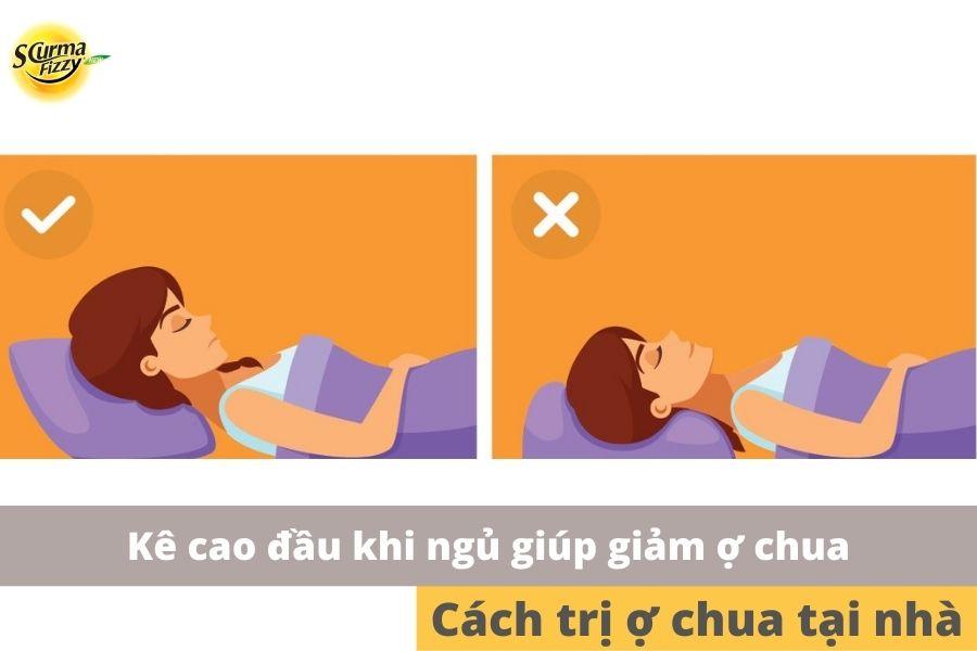 Nâng cao đầu giường khi ngủ