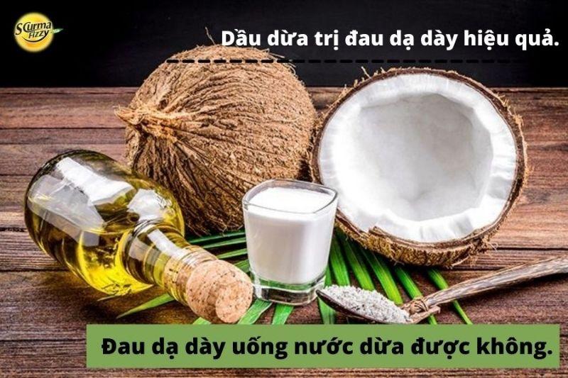 Dầu dừa có công dụng tuyệt vời trong chữa trị đau dạ dày.