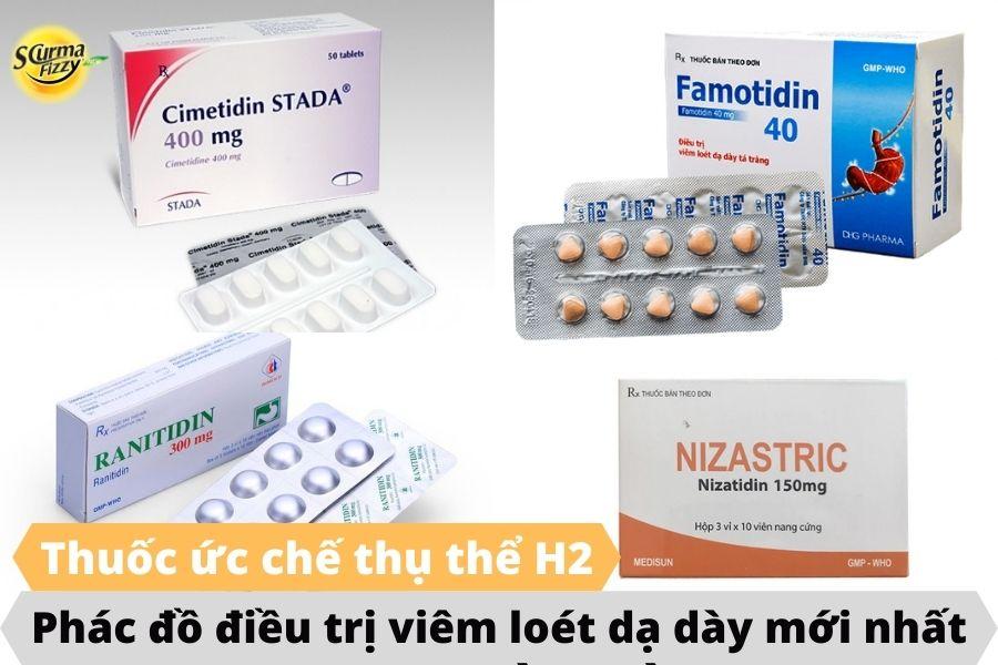 Phác đồ điều trị viêm loét dạ dày mới nhất là sử dụng thuốc ức chế thụ thể H2