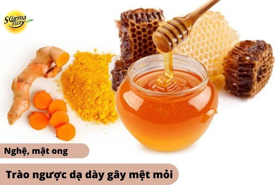 Sử dụng Nghệ và Mật ong