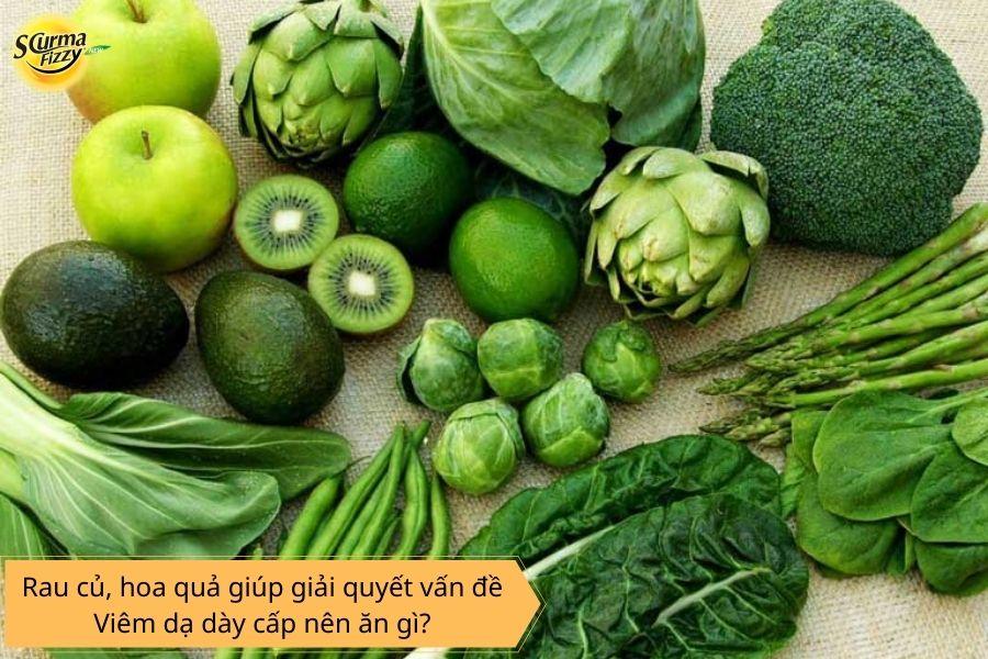 Rau củ, hoa quả giúp giải quyết vấn đề viêm dạ dày cấp