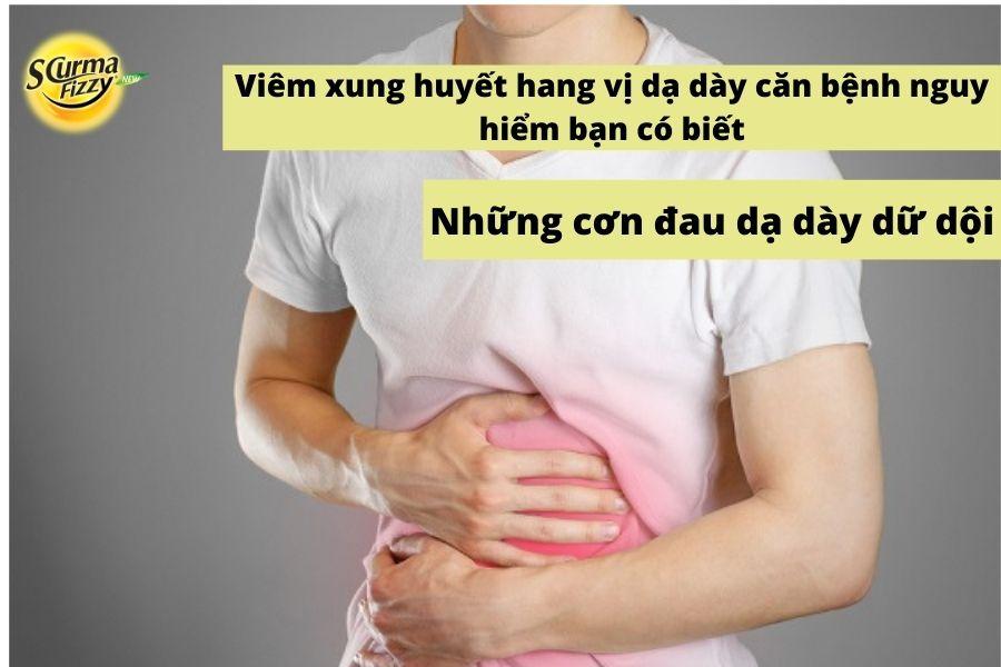 Những cơn đau dữ dội do bệnh viêm xung huyết hang vị dạ dày