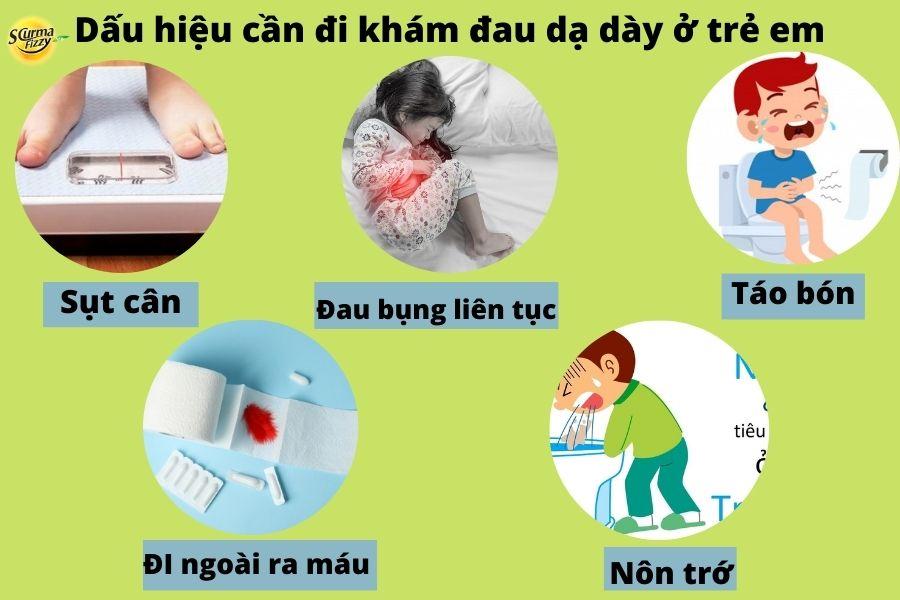 Dấu hiệu cần đi khám đau dạ dày ở trẻ em