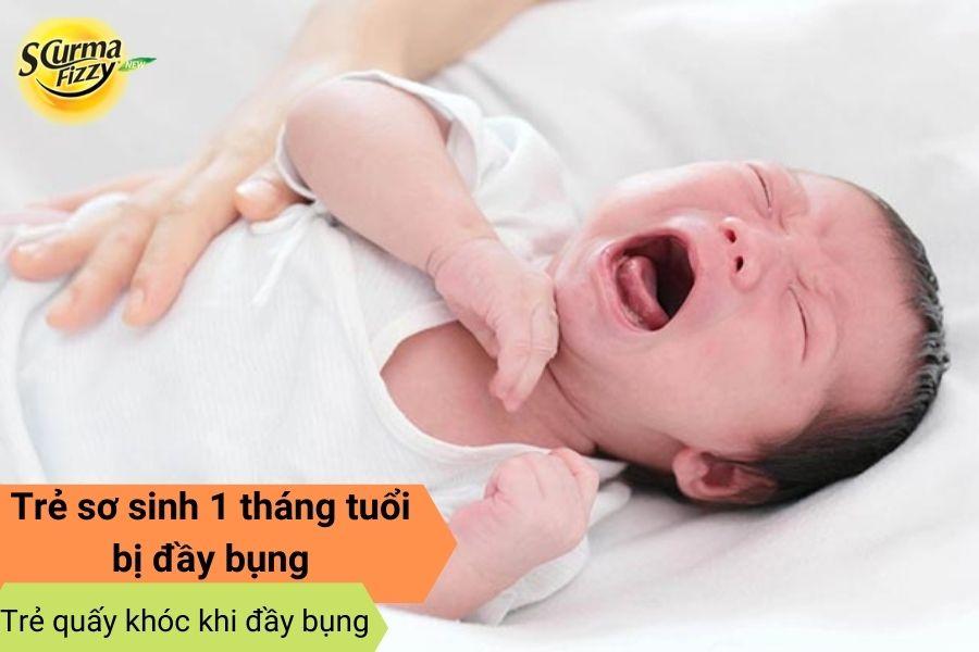 Trẻ quấy khóc khi đầy bụng