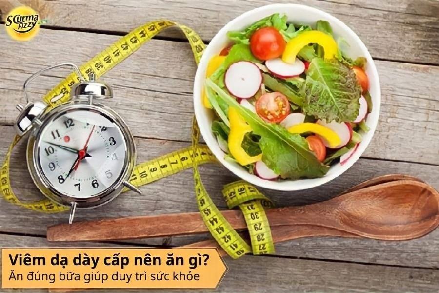 Ăn đúng bữa giúp duy trì sức khỏe