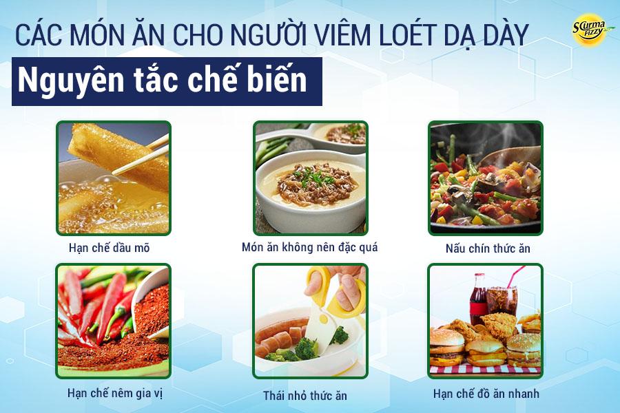 Các món ăn cho người viêm loét dạ dày