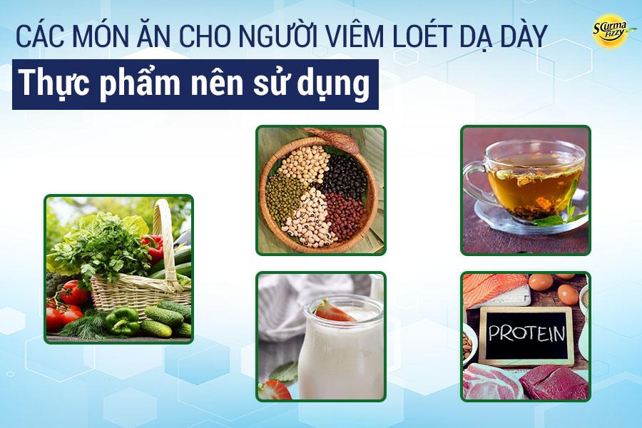 Thực phẩm nên sử dụng trong chế biến các món ăn