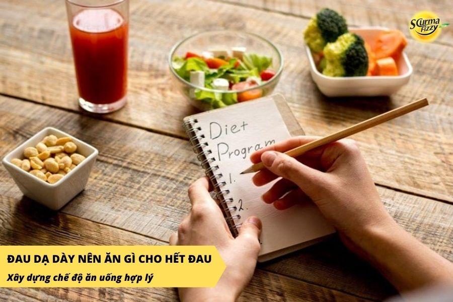 Chế độ ăn uống hợp lý có thể giúp khắc phục tình trạng đau dạ dày