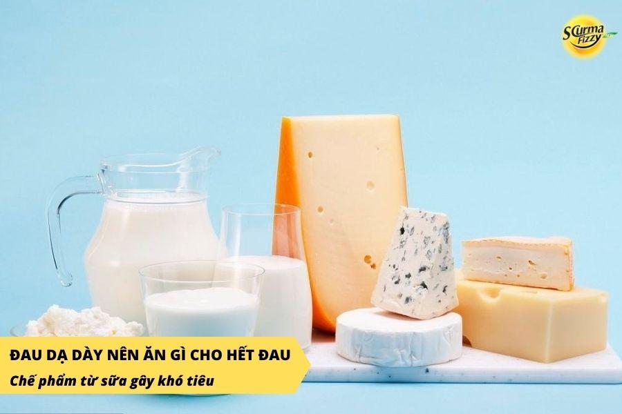 Chế phẩm từ sữa gây ra các triệu chứng như khó tiêu, đầy bụng và khiến cơn đau dạ dày hoặc tiêu chảy nặng hơn