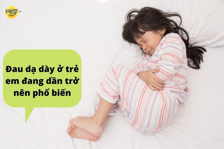 Đau dạ dày ở trẻ em đang dần trở nên phổ biến
