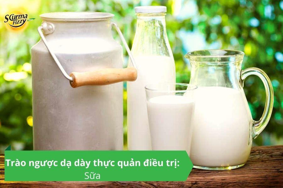 Trào ngược dạ dày thực quản điều trị : Sữa